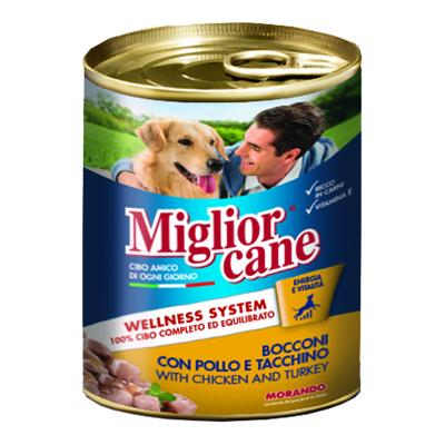 MIGLIOR CANE BOCCONI POLLO/TACCHINO GR.800
