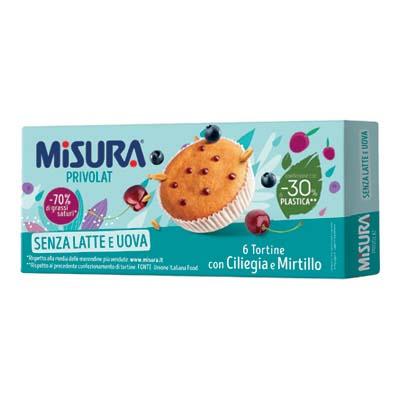 MISURA TORTINA PRIVOLAT GR.290CILIEGIA/MIRTILLI  (SENZA OLI