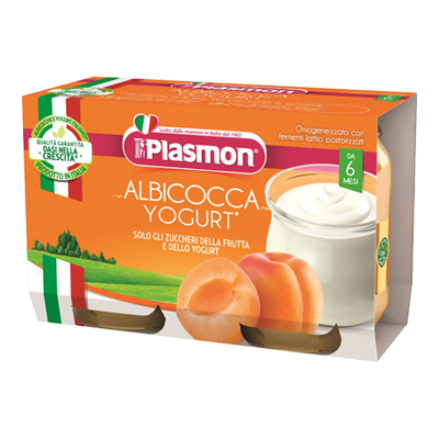PLASMON OMO GR.120X2 YOG/ALBICOCCA