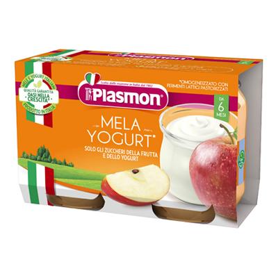 PLASMON OMO GR.120X2 YOGURT/MELA