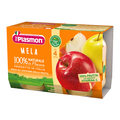 PLASMON OMOGENEIZZATO FRUTTA GR.104X2 MELA + OS