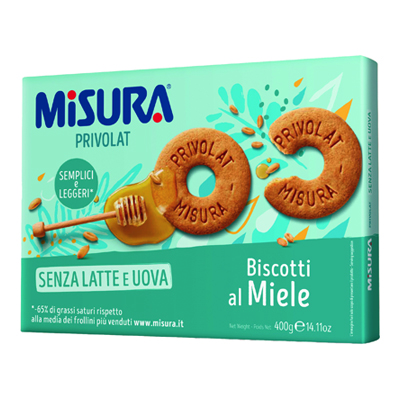 MISURA BISCOTTI PRIVOLAT GR.400 MIELE