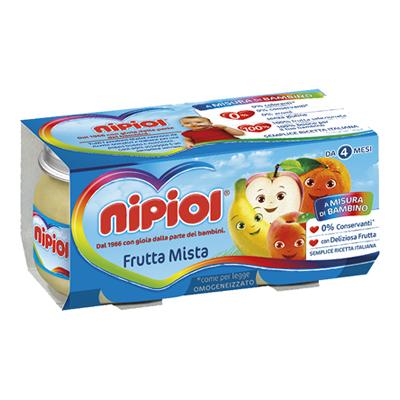 NIPIOL OMOGENEIZZATO FRUTTA GR.80X2 FRUTTA MISTA