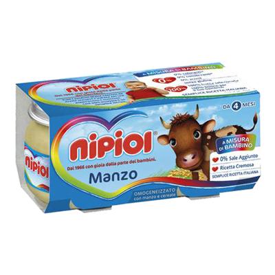 NIPIOL OMOGENEIZZATO CARNE GR.80X2 MANZO