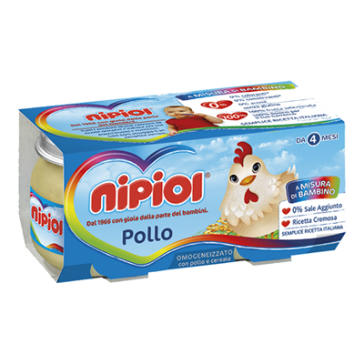 NIPIOL OMOGENEIZZATO CARNE GR.80X2 POLLO