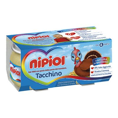 NIPIOL OMOGENEIZZATO CARNE GR.80X2 TACCHINO