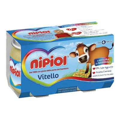 NIPIOL OMOGENEIZZATO CARNE GR.80X2 VITELLO