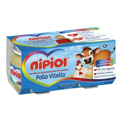 NIPIOL OMOGENEIZZATO CARNE GR.80X2 VITELLO/POLLO