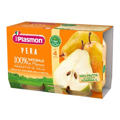 PLASMON OMOGENEIZZATO FRUTTA GR.104X2 PERA + OS