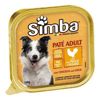SIMBA DOG VASCHETTA POLLO/FEGATO GR.150