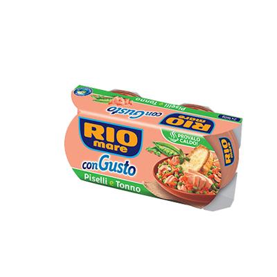 RIO MARE CONGUSTO  TONNO + PISELLI GR.160X2