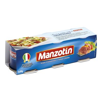 MANZOTIN CARNE GR.90X3