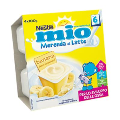 NESTLE MIO MERENDA LATTE/BANANA GR.100X4