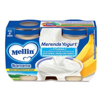 MELLIN MERENDA YOGURT + BANANAGR.120X2
