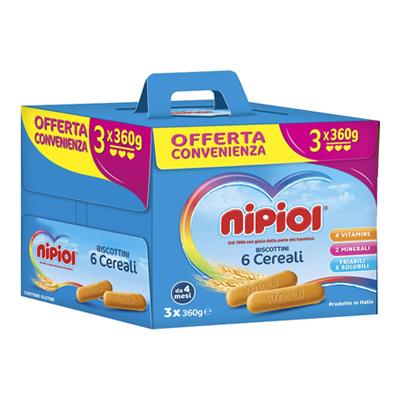 NIPIOL BISCOTTO GR.360X3 MULTIPACCO