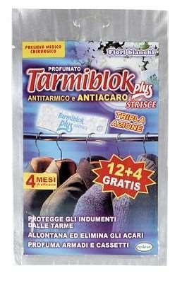 RELEVI TARMIBLOK STRISCE X 12+4 PZ TRIPLA AZIONE PROFUMO FIO