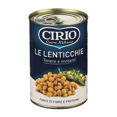 CIRIO LENTICCHIE SCATOLA GR.400