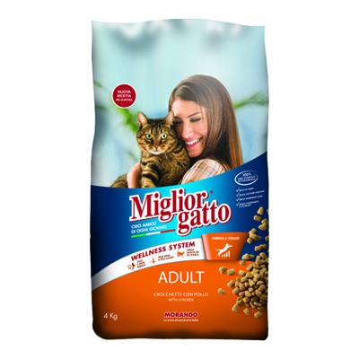 MIGLIOR GATTO CROCCHETTE KG.4POLLO