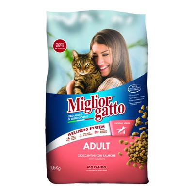 MIGLIOR GATTO CROCCANTINI SALMONE KG.1,5