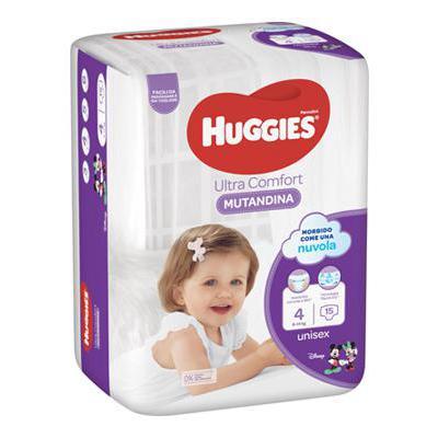 HUGGIES PANNOLINO MUTANDINA 4(9-14KG)X15