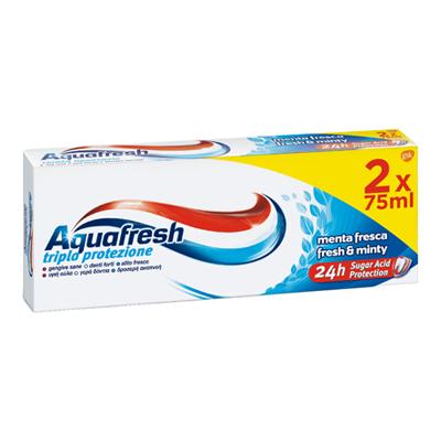AQUAFRESH DENTIFRICIO MENTA FRESCA ML.75X2