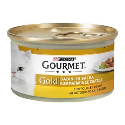 GOURMET GOLD DADINI FEGATO&POLLO GR.85