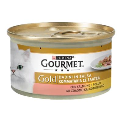 GOURMET GOLD DADINI SALMONE/POLLO GR.85