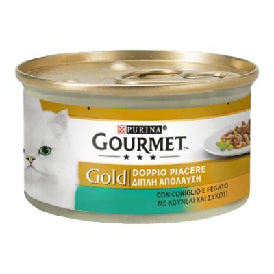 GOURMET GOLD DADINI CONIGLIO&FEGATO GR.85