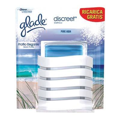 GLADE DISCREET BASE+RICARICA(6 ACQUA + 6 LAVANDA)