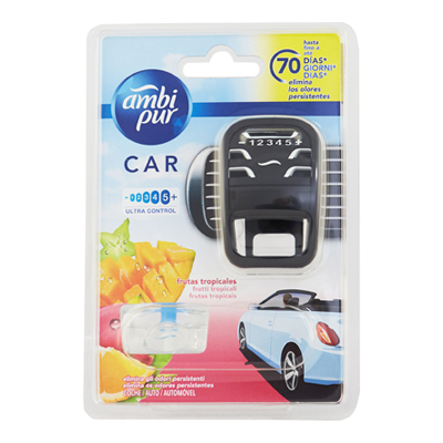AMBI PUR CAR STARTER KIT BASEFRUITY TROPICS ML.7