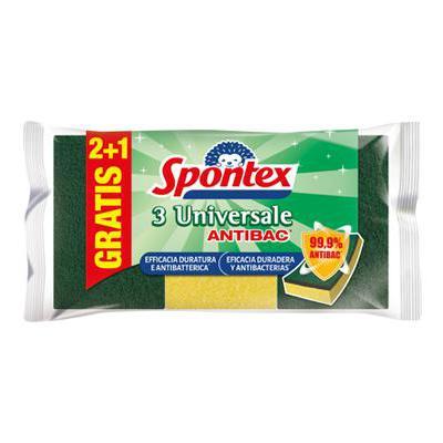 SPONTEX SPUGNA ABRASIVA UNIVERSALE 2+1