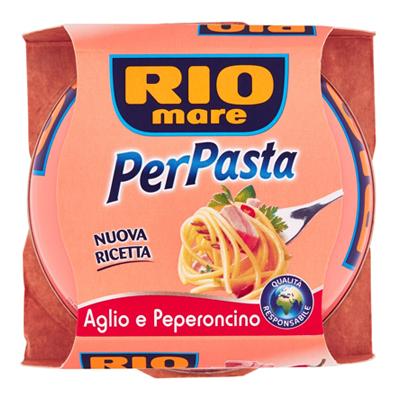 RIO MARE PER PASTA TONNO+AGLIO/PEPERONCINO GR.160