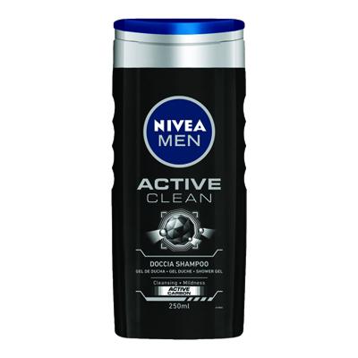 NIVEA DOCCIA SHAMPOO MEN ACTIVE CLEAN ML.250