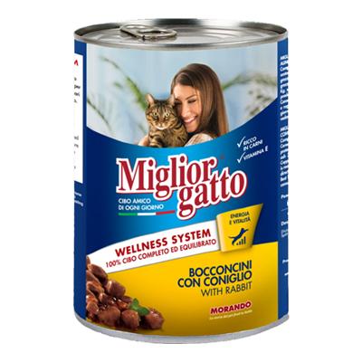 MIGLIOR GATTO BOCCONCINI CONIGLIO GR.405