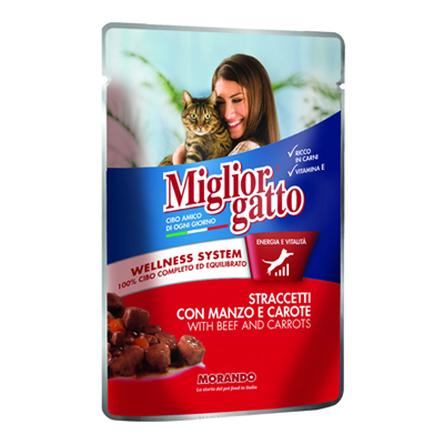MIGLIOR GATTO POUCH STRACCETTIMANZO/CAROTE GR.100