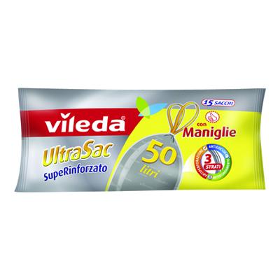 VILEDA ULTRASAC LT.50 PZ.15 RINFORZATO CON MANIGLIE