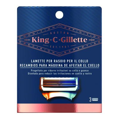 KING C GILLETTE LAME PER COLLOX3PZ