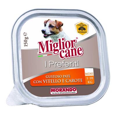 MIGLIOR CANE PREFERITI VASCH.VITELLO/CAROTE GR.150