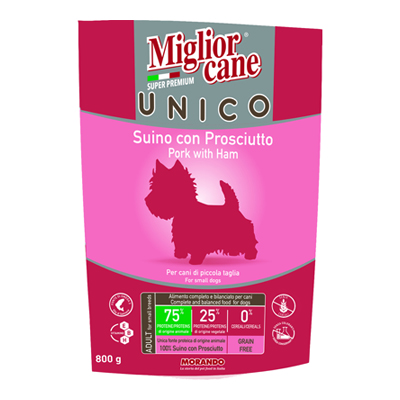 MIGLIOR CANE UNICO CROCCANTINIPROSCIUTTO GR.800