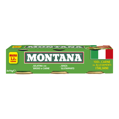 MONTANA CARNE LESSATA GR.70X3