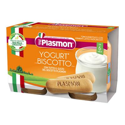 PLASMON OMOGENEIZZATO YOGURT+BISCOTTO GR. 120X2