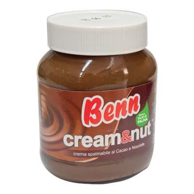 BENN CREAM&NUT CREMA AL CACAOE NOCCIOLE GR.400