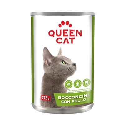QUEEN CAT BOCCONCINI POLLO LATTINA GR.415