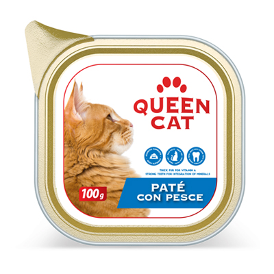 QUEEN CAT PATE'PESCE GR.100VASCHETTA