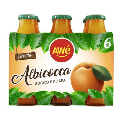 AWE' SUCCO DI FRUTTA ALBICOCCABOTTOGLIA ML.125X6