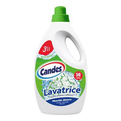 CANDES LAVATRICE MUSCHIO BIANCO 50 LAVAGGI LT.3