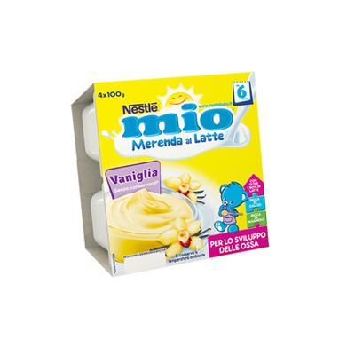 NESTLE MIO MERENDA LATTE/VANIGLIA GR.100X4