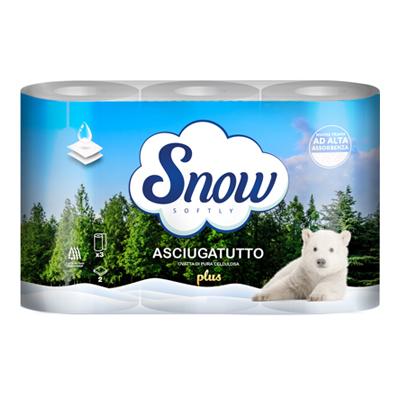 SNOW ASCIUGATUTTO 2 VELI 3 ROTOLI MAX GR900 DECORATO