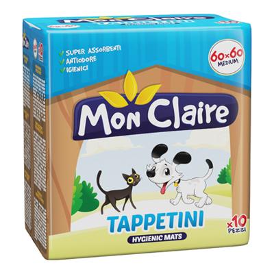 MON CLAIRE TAPPETINI PER ANIMALI CM60X60 10 PEZZI