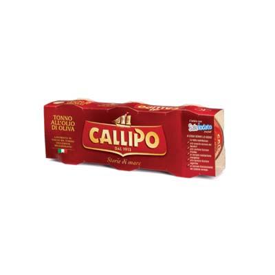 CALLIPO TONNO OLIO DI OLIVA GR.80X3